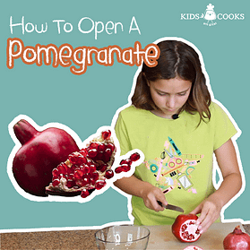 how to easily open a pomegranate no mess