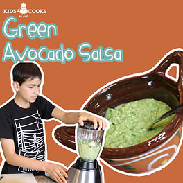 Avocado Salsa (salsa de aguacate) with tomatillos image