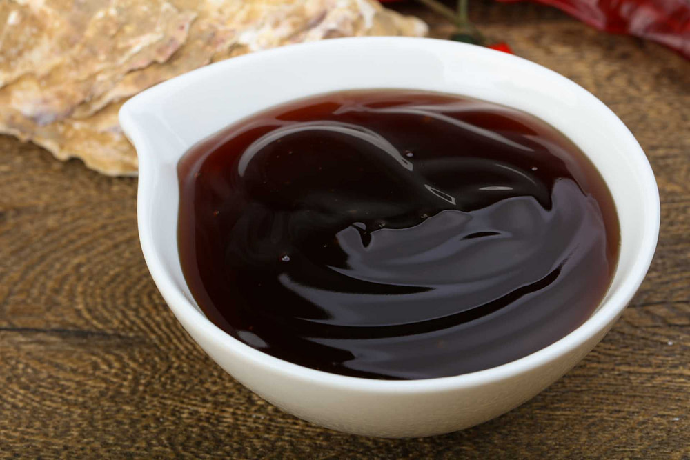 Bowl of oyster sauce