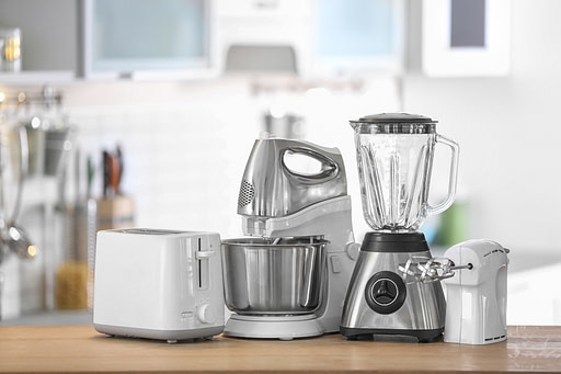 Kitchen appliances on a counter