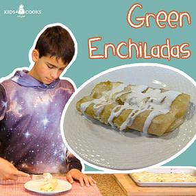 Cheese Enchiladas With Salsa Verde (Green Sauce)