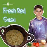 fresh red tomato salsa