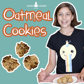 how to make oatmeal cookies kids cooking lesson