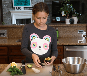 sydney making guacamole
